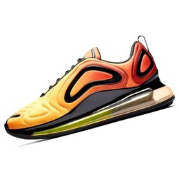 air noir de carbone Promotion Nike Air Max 720 Nouveau! arrivée 720 chaussures de course pour hommes femmes Metallic Silver triple noir CARBON GREY SUNSET respirant mens formateur baskets de sport