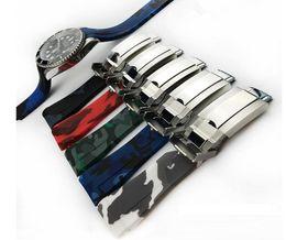 2019 fibbia breitling 20mm Size 3A Quality Strap Fit per ROLEX SUB / GMT Nuovi cinturini per orologi impermeabili durevoli morbidi Accessori D0645