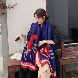 2019 Praça Outono-Inverno Wool Scarf Mulheres Cashmere Lenços Ampla Grades longo Xaile Enrole Blanket Mulher Designer Quente Tippet de Fornecedores de coreano, meninas, tricotar, suéter