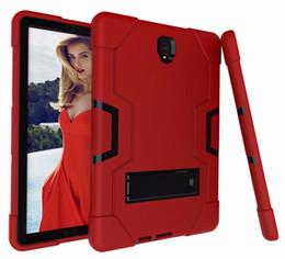 Tipi di robot online-B tipo PC + SILICONE Heavy Duty antiurto Kickstand Hybrid Robot Case Cover PER SAMSUNG Galaxy Tab A2 10.5T590 S4 10.5 T830 T835 T387 70PCS