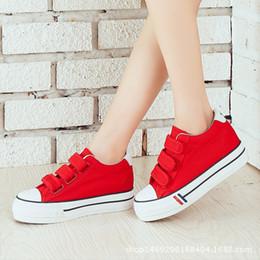 Tablero de ganchos online-blanco versión coreana ocasional gancho de resorte y lona bucle de zapatos de suela gruesa mujer de la junta marea estudiante