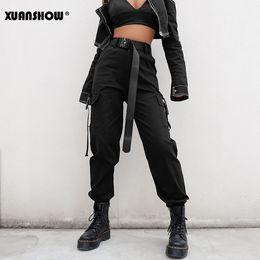 koreanischen stil frauen hose Rabatt Xuanshow Streetwear Cargo Pants Frauen Casual Joggers Hohe Taille Lose Weibliche Hose Korean Style Damen Hosen Pantalon Femme Y190502