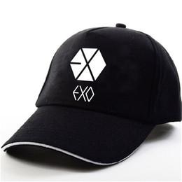 YOUPOP KPOP EXO THE WAR Wolf EXACT EXODUS Альбом Baekhyun Chanyeol Черная бейсбольная кепка Хип-хоп Кепка Мужчины Женщины Шляпы cheap black wolf hat от Поставщики черная шляпа