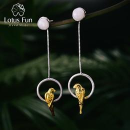 Lotus Fun S925 Ciondolo in Argento Sterling con Perla per Donne e Ragazze Creativo Realizzato a Mano Gioielli Unici