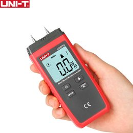 Uni-t Ut377a Medidor digital de humedad de madera Higrómetro Probador de humedad para papel contrachapado Materiales de madera Lcd luz de fondo T190625 desde fabricantes