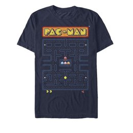 229ced9c4ccf shipping pac Скидка Pac-Man Аркада Лабиринт Экран Мужская Футболка с  Графическим рисунком Футболка M