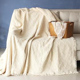 white 100%cotton striped Bohemia Geometric rug Carpet Exotic Geometric  Bedding Couch Cover thread towel throw Blanket body sofa D19011201 b5461b8bf
