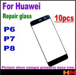 tela huawei p6 Desconto 10pcs para Huawei P6 P7 P8 alta qualidade da tela LCD frontal da lente de vidro Reparação Frente Outer lente de vidro de substituição