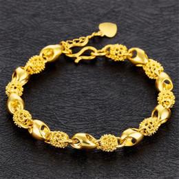 Tage 24k armband online-Frauen Elegante Armbänder Charms Modeschmuck Zubehör Weibliche Damen Valentinstag Geschenk Casual Vintage 24 Karat Vergoldet O507