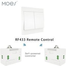 2019 receptor do controlador remoto rf 433 Mhz Sem Fio Interruptor Inteligente Receptor de Controle Remoto RF Botão Controlador Transmissor do Painel de Parede, 2 vias / 3 vias Multi-Controle receptor do controlador remoto rf barato