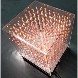 Freeshipping 888 полноцветный куб закончил RGB цвет света куб 16 миллионов видов цветов света куб продукта комплект от