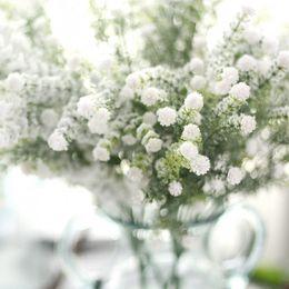 schneespray dekoration Rabatt Besprühen Sie Schnee voll der künstlichen Blumen des Sternschneesprays Weihnachtsfälschungsblumenhauptdekorations-Hochzeitsplan