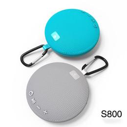 telefonlautsprecher pille Rabatt Neue s800 Outdoor Hängen Runde V4.2 + DER Mini Wireless Bluetooth Tragbare Lautsprecher IPX5 Wasserdichte Musik Lautsprecher Unterstützung TF PK clip 2 3