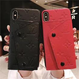 2019 caso glitter lg Vegan Folio Portafoglio in pelle della copertura del sacchetto 6 slot per schede di banconote borsa Staffa fondina telefono Shell per iPhone Pro 11 XS Max XR 8
