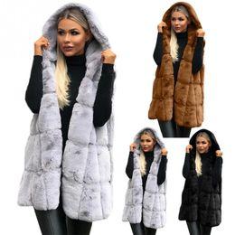 Elegante Faux Fur Coat Inverno Mulheres 2018 Nova Moda Casual Quente Magro Sem Mangas Faux Fur Vest Casaco de Inverno Casaco Outerwear de Fornecedores de pele de raposa tingida