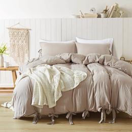 2020 conjunto de cama de borboleta Laço Bowknot Conjunto de Cama Fita Khaki Borboleta Bowtie Capa de Edredão Fronha Conjunto Único Gêmeo Completa Rainha King Size 2/3 pcs desconto conjunto de cama de borboleta