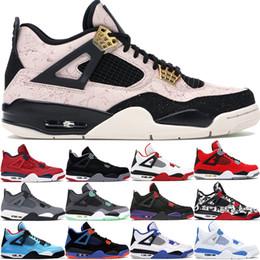 Sapatas do oreo on-line-2019 Fiba Silt Red Splatter 4 4S Jumpman homens tênis de basquete criados Cinza frio discrição Oreo sapatos mens cimento branco desenhador 40-47