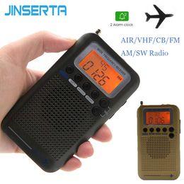 Canada JINSERTA Mini Radio VHF Portable Aéronef FM AM SW Radio FullBand CB VHF CB 30-223MHZ 25-28MHZ Air 118-138MHZ avec double réveil Offre