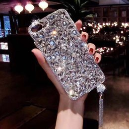 Couverture arrière iphone en Ligne-Spark strass luxe bling-en main Rhinestone PC couverture arrière diamant cas pour l'iPhone 6 6S 7 8 Plus iPhone X / X Max Xr 11 Pro Max