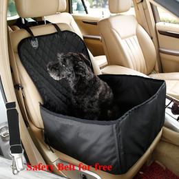 2019 fuente de alimentación de bolsillo 2-en-1 asiento delantero del asiento impermeable coche del animal doméstico del perro del portador del asiento cubierta que aisla Silp mascotas elevador para el automóvil con el cinturón de seguridad