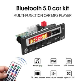 placa do bluetooth mp3 decodificador Desconto MP3 sem fio Bluetooth Car Audio Receiver Decoder Módulo USB 3,5 milímetros AUX TF FM Radio Music Player MP3 WMA 5V 12V decodificadores Board