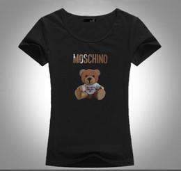 frauen mittleren alters Rabatt Süßes und frisches Damen hochwertiges T-Shirt Cartoon Bärendruck Mode großzügig jugendlich lebendig geeignet für junge und mittlere Frauen