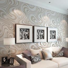 2020 luxus moderne tapete Modern Luxury 3D Wallpaper Rolle Mural Papel de parede Beflockung für gestreifte Tapeten 5 Farbe R136 Qualitäts 0.7m * 8.4m rabatt luxus moderne tapete