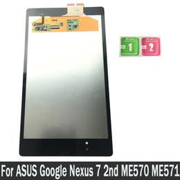 Yeni ASUS Google Nexus Için 7 2nd 2013 FHD ME571 ME571K ME571KL LCD'ler Dokunmatik Ekran Digitizer Sensörleri Meclisi Yedek Parçalar nereden
