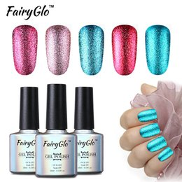 Glitter paint онлайн-FairyGlo 10ML Bling Gel Polish UV Soak OFF Glitter Gel Nail Polish Paint Gellak Hybrid Varnish Semi Permanent Lucky Lacquer