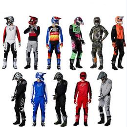 2020 FOX 180/360 set off-road MX ATV vestito ciclismo off-road tuta moto da corsa da ginocchiere in nylon fornitori