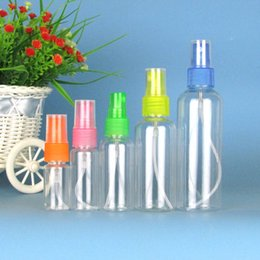 Vaporisateur clair pour animaux de compagnie en Ligne-Bouteille de vaporisateur en plastique transparent 10 20 30 50 100 ml de bouteilles transparentes d'atomiseur de parfum Voyage Portable bouteille de jet d'eau PET