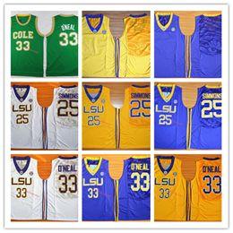 d085cdd16948 ben simmons jersey Sconti Maglia da basket NCAA LSU Tigers   25 Ben Simmons    33