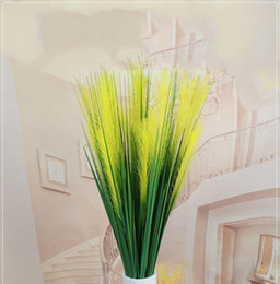 all'ingrosso per piante artificiali Sconti All'ingrosso casa di moda piante di erba artificiale 120 cm 2 teste a lamella creativa casa di nozze decorazione ufficio piante verdi