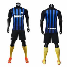 Jérsei de futebol personalizado on-line-19-20 Inter original adulto das crianças camisa de futebol conjunto de futebol time de futebol Jersey original jogador de futebol nome do número personalizado