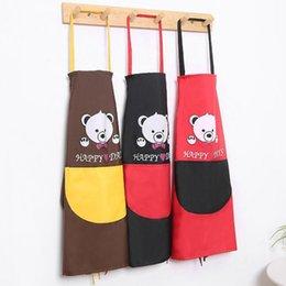Aventais de cozinha à prova d 'água mulher adulto Babadores de cozinha para casa de cozimento cartoons desenhos de algodão de linho cozinha aventais de limpeza com bolsos de Fornecedores de algodão avental de linho