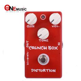 simulador de guitarra Rebajas Envío Gratis Pedal de Efectos de Guitarra Distorsión Crunch Box Y True Bypass Design MU0372
