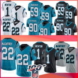 Cam newton jerseys on-line-22 Christian McCaffrey Carolina 1 Cam Newton Panthers Jersey 59 Luke Kuechly 90 Julius Peppers Football Jerseys