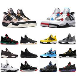 jordan 4 basketball shoes Avec Box New Bred 4 IV 4s Vol Nostalgie Hommes Chaussures de Basketball Black Cat Fire Rouge Foudre Pizzeria Hommes Sport trainers Baskets 8-13 ? partir de fabricateur