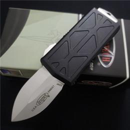 2019 mejores cuchillos pequeños EDC Cuchillo de BENCHMADE UTX85 automática Auto táctico manija de aluminio cuchillos cuchillo de la lámina D2 caza que acampa herramienta BM3300 BM3300 BM42