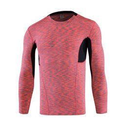 Deutschland Männer lang Sleeved Sport Fitness Enge Wicking Wandern T-Shirt elastische Kompressionskleidung für den Herbst Versorgung