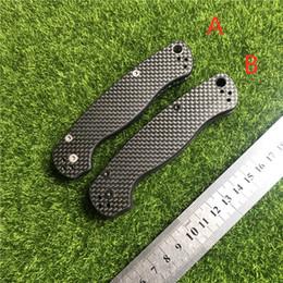 Doblando cuchillos militares online-Araña C81 posterior fijación de la cuchilla de fibra de carbono casi militar herramienta de mango CPM-S30V-G10 plegable