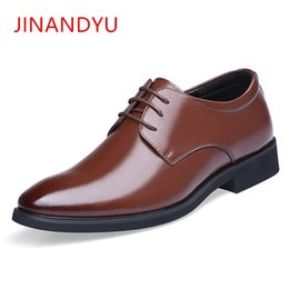 2019 летняя обувь от oxford Spring Summer Height Increasing 6CM Formal mens oxford shoes Genuine Leather Business Casual Shoes Men Dress Office  дешево летняя обувь от oxford