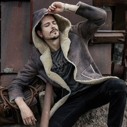 Genuine Leather Mens Winter Jacket Canada Best Selling