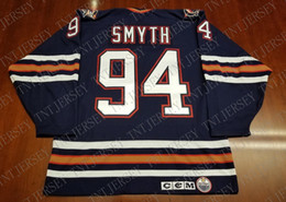 Cheap custom Ryan Smyth Vintage Edmonton Oilers CCM Jersey Oil Drop  Stitched Retro Hockey Jersey XS-5XL f46f33107