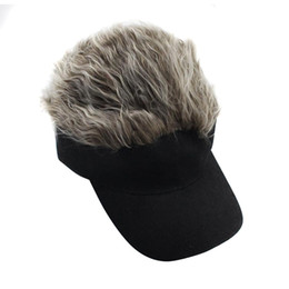 men spiked hat Coupons - 1 Pcs Wig Baseball Hat Sun Visor Cap with Spiked Hair Winter Warm Outdoor Caps ASD88