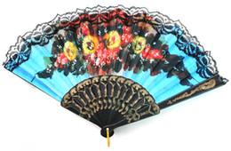 Canada Style chinois / espagnol éventail danse de mariage dentelle de soie pliant à la main fans de décoration fleur Offre
