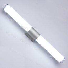 Banyo Duvar Led Ayna Lambası LED Işıkları Kabine Modern Minimalist 425mm 10 W 545mm 12 W Beyaz Bar Tüp Akrilik Duvar Lambaları Fikstürü DHL cheap led lights for bathroom fixtures nereden banyo armatürleri için ledli ışıklar tedarikçiler