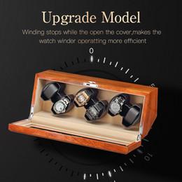 motori di visualizzazione Sconti Nuova custodia da viaggio con display design giappone mabuchi motore di lusso in legno scatola di ricarica orologio 2 + 3