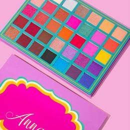 дешевые шоколадные конфеты Скидка Новейшая горячая палитра для макияжа Анна 35 цветов Тени для век Палитра Shimmer Matte Высокое качество доставки DHL