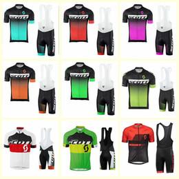 Pantaloncini con bretelle SCOTT squadra ciclismo manica corta set 2019 estate asciugatura rapida abbigliamento bicicletta U52801 da maglia rosa fornitori